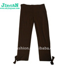 Children's new fashion black pants made of 100%cotton