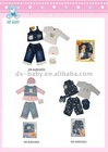 hot sales fashion denim summer baby set
