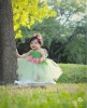 Green dress set Flower tutu dress for baby girls