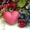hand made heart shape silicone soap molds