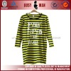 2012 new style lady striped long shirt