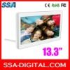 2012 new design 13.3 inch Digital photo frame