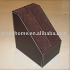 faux leather file holder / file box / file organizer