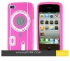 New Arrival Camera design Silicone case for iphone 4