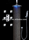led rainfall shower set