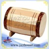 natural wooden wine barrel