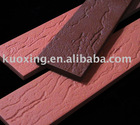 Red split wall tile for outside