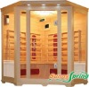 Corner infrared sauna