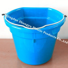 plastic flat back animal feeder/ water pail /plastic measurement bucket