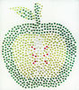 DIY green apple design hot fix strass motif rhinestone transfer
