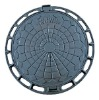 round inspection ductile iron manhole cover D400