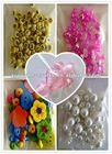 Flower multicolor glass beads for jewelry making
