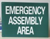 Safety Sign-Emergency Assembly Area 450mm*300mm