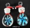New design lampwork glass snowman pendant for christmas gift