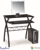 Metal frame computer table