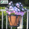 metal hanging flower pot holder for window or balcony handrail