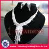 WNE009 In stock shiny silver bridal delicate diamond necklace sets
