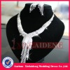WNE009 In stock shiny silver bridal delicate diamond necklace sets