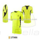 2012 short sleeve insert contrast lining line polyester running shirt for youth/adult