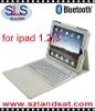 leather case bluetooth keyboard for ipad 3 BK05