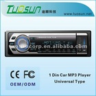 One Din driver car mp3 player, USB/SD Slot, ESP, Electronic Audio Control, Preset EQ, Full function Remote control