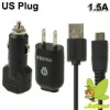 US Plug High Performance Monie 1.5A 3 in 1 USB Travel+USB Car Charger for Samsung Galaxy Note/i9220/N7000/i9100/S5830