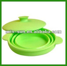 Food grade heat-resistance foldable silicone bowl/pot