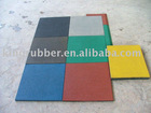 Rubber playground tile made in China