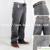 Embroidery Brand Men Jeans Pants