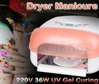 36W Auto Sensor Nail Art Salon Gel UV Lamp Light Fan Dryer with 4 x 9w Bulb 220V