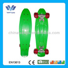 Hot! Fish custom penny boards top quality PU wheel