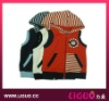 Knitting pattern boy vest, sleeveless kids jacket