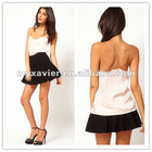 Cami With Skinny Straps And Sheer Panels top fashion woman clothes