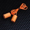 cylinder shape PU earplug with cord