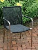 Stainless steel wicker chair