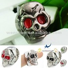 Fashion Skull Watch Finger Ring Clock