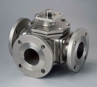Stainless steel industrial 3way flange ball valve