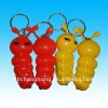 plastic keychain light animal design Cartoon caterpillar