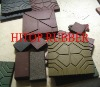 recycled rubber patio pavers