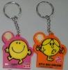 Promtion fashion silicone rubber key chain