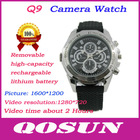 New design Removable Battery and memory card, hidden HD 1280*720 dvr camera watch