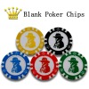 Texas Hold'em Blank Poker Chips