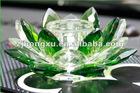 Lotus shape crystal auto perfume holder