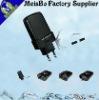 worldwide multi-function converter charger phosphor bronze metal pc 100v-250v ac USB EURO power plug