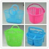 plastic baskets with handles for shopping or storage