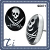 Charming style and welcome skull stainless steel jewelry earing