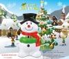 Cool design snowman plastic money saving bank