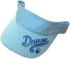 Cotton visor cap with a print(7612)