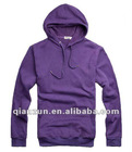 2012 Mens casual purple comfortable autumn hip hop fleece jacket with cotton and polyester material