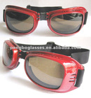 Motorcycle eyewear with soft foam